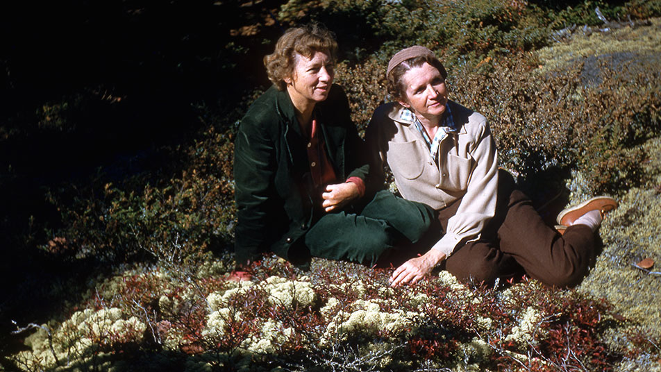 Rachel Carson and Dorothy Freeman reading together in Maine