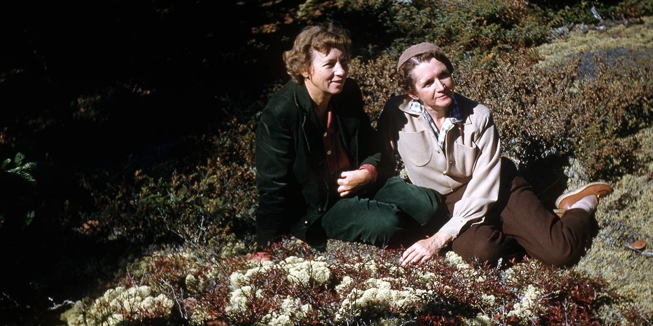 Rachel Carson and Dorothy Freeman together in Maine