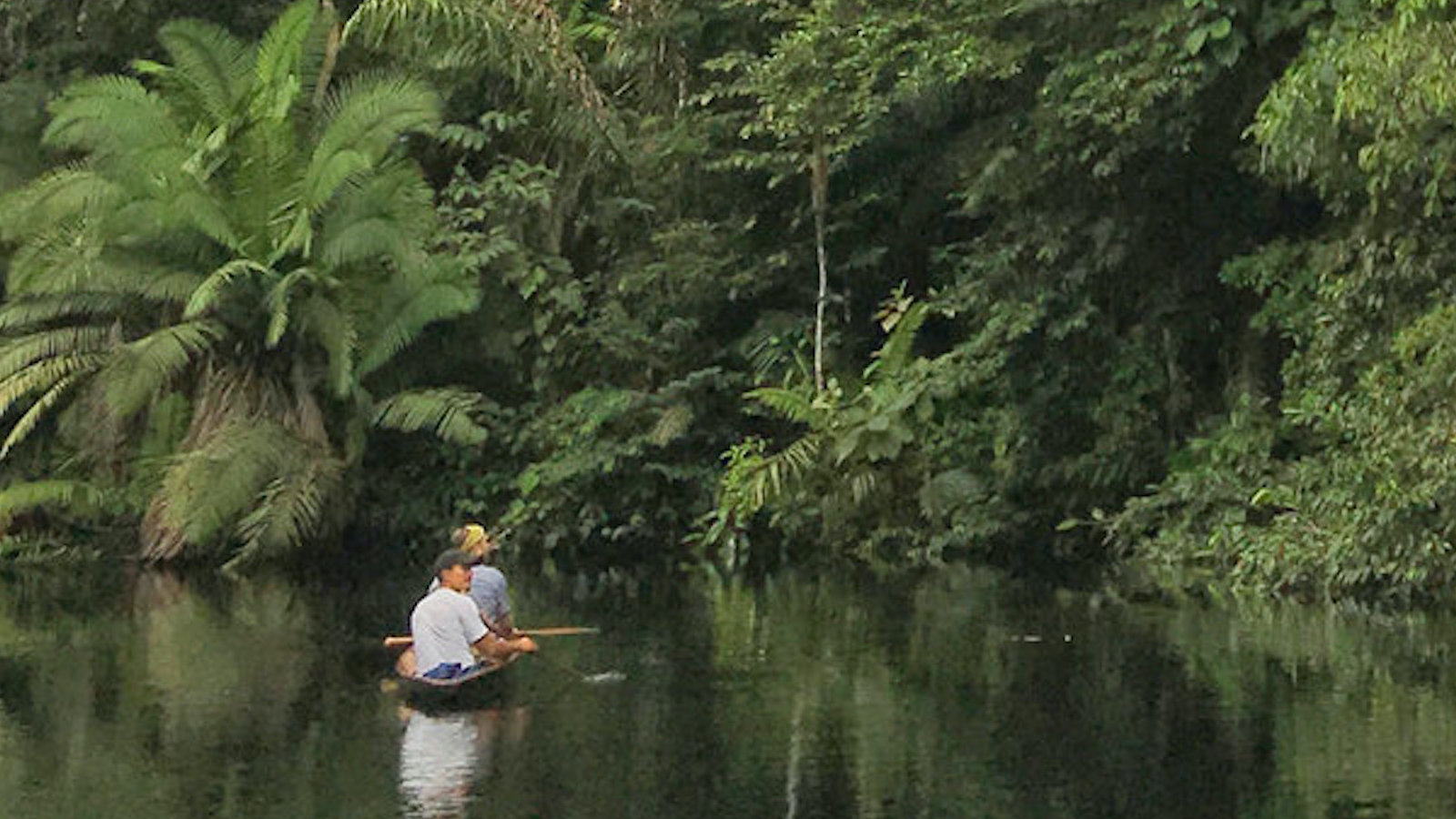 Canoeing on the Zabalo River in Ecuador