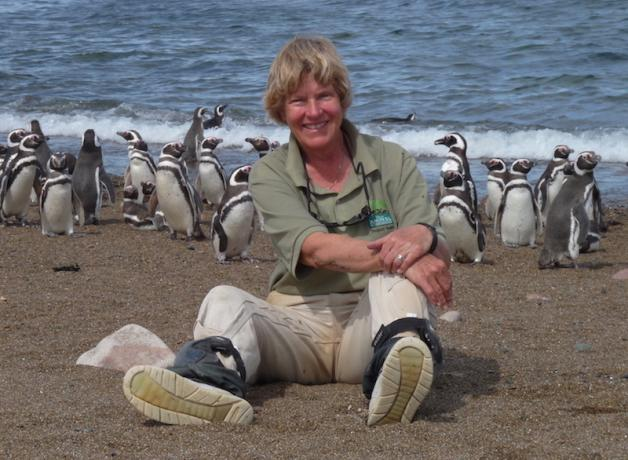 Dee with Magellanic Penguins