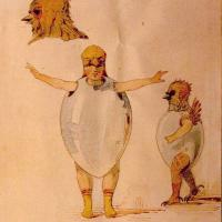 Sketch for Ballet of the Unhatched Chicks
